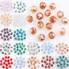 100Pcs Crystal Glass Round Loose Spacer Bead Finding Craft 4mm AB Plated