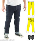 Mens Slim Raw Blue Motorcycle Jeans Fully Lined Protection + CE Armour Finn Moto