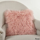 Mongolian Lamb Fur Throw Pillow