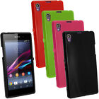 Glossy TPU Gel Skin Case Cover for Sony Xperia Z1 Honami C6902 Screen Protector