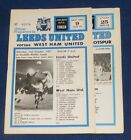 LEEDS UNITED VARIOUS HOME PROGRAMMES 1971-1972
