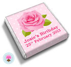 Personalised Polka Dot ROSE Shabby Chic Birthday Party Favour Chocolates (PINK)