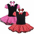 Halloween Girl Baby Xmas Minnie Mouse Outfit Party Costume Tutu Dress + Headband
