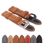 Black Stainless Buckle Handmade Genuine Leather Watch Band Wristwatch strap Belt