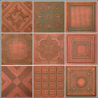 COPPER PATINA STYROFOAM 20x20 TIN LOOK CEILING TILES DIFFERENT PATTERNS