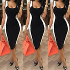 1 Pc Women Summer Sexy Sleeveless Bodycon White and Black Patchwork Slim Dress