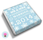 Personalised WINTER WONDERLAND Snowflakes, Christmas Wedding Favour Chocolates