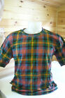 T-shirts with a tartan pattern