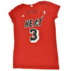 NBA Adidas Miami Heat Dwayne Wade #3 Women Ladies Semi Transparent Tshirt