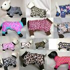 dog pjs designs 4 legged pajamas TC XXS XS S S/M M size choices pet clothing