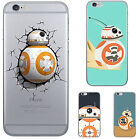 Awesome Star Wars BB-8 Robot TPU Soft Back Phone Case  For iPhone 7 5 6 6s Plus