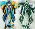 Football Jacksonville Jaguars or New York Jets Hair Bow w/Beads $4.99 USD on eBay