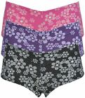 Loving Moments Ladies Retro Floral Shortie Knickers
