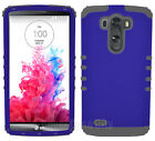 For LG Optimus G3 - Impact Hybrid 2 in 1 Cover Case Purple with Gray Silicone