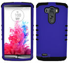 For LG Optimus G3 - Impact Hybrid 2 in 1 Hard Soft Cover Case Purple with Black