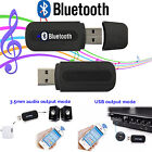 USB Bluetooth Wireless Audio Music Receiver Adapter 3.5mm Dongle for Speaker Car
