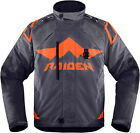 Icon Raiden DKR Waterproof D3O Jacket Slate Mens Size SM-3XL