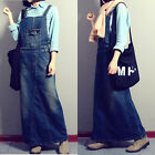 Vintage Women's Jean Dress Cotton suspender skirt Fashion Overalls classical NEW