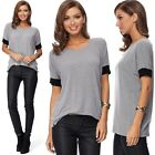 New Women's Short Sleeve Casual T Shirt Fashion Loose Cotton Tops Casual Blouse
