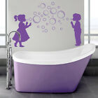 Bubble Boy and Girl - Wall Decal Sticker lounge bathroom bedroom