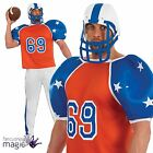 Mens American Footballer Football Player USA Superbowl Stag Fancy Dress Costume