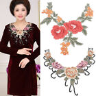 1 Pcs Floral Embroidery Neckline Patch Neck DIY Sewing On Lace Collar Applique
