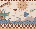 30 Feet Dbl 2 Roll Noahs Ark Whale Animals Child Boy Girl Wall Wallpaper Borders