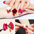 Nail Art Charms Crafts Magnet Flower Cloth Bead Bowknot 3D Decoration