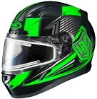 HJC 2015 Adult Striker CL-17 MC4 Snow Helmet Black/Green XS-3XL