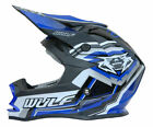 WULFSPORT BLUE MOTOCROSS ENDURO HELMET (ALL SIZES) ROAD LEGAL YZ YZF XT WRF DTR