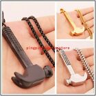 """Cool Jewelry Stainless Steel Silver Gold Black Hammer Pendant Mens Necklace 24"""""""