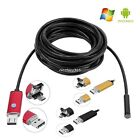 2016 NEW 2in1 Waterproof 5M 7mm 6LED Endoscope Borescope Inspection Camera AU