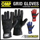 SALE! KK02735 OMP GRID KART KARTING RACE GLOVES SUEDE LEATHER in 3 COLOURS