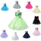 Little Girls Sequin Princess Bridesmaid Wedding Dress Christmas Party Gown 6M-3Y