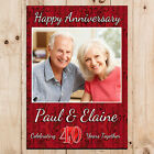 Personalised Ruby 40th Wedding Anniversary PHOTO Poster Party Banner N71
