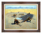 Fight for the Waterhole Frederic Remington Framed Western Giclee Art Print Repro
