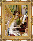Two Girls at the Piano Pierre Auguste Renoir Framed Giclee Music Art Print Repro