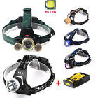XM-L T6 5000LM Power LED Adjustable Headlight 18650 Battery HeadLamp Light