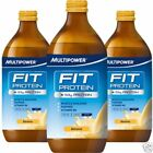 Multipower Fit Protein Glass Shake 53g Protein 500ml Drink 12 or 24 Bottles High