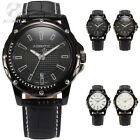 Genuine AgentX Analog Date Leather Boyfriends Mens Quartz Wrist Sport Watch