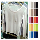 UNIQLO Women SUPIMA COTTON Crew Neck Long Sleeve T-Shirt ChooseColors NEW 172267