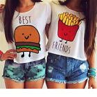 Fashion Women Girls Summer Vest Top Blouse Casual Tank Tops Best Friend T-Shirt