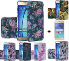 DESIGN Protector Cover for Samsung Galaxy On5 G550 Hard Case + Tempered Glass