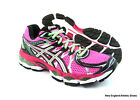 Asics women Gel-Nimbus 16 running shoes sneakers - Hot Pink / Green / Black $150