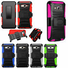 Samsung Galaxy On5 COMBO Holster Hard HYBRID KICK STAND Rubber Phone Case Cover