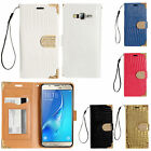 For Samsung Galaxy On5 Leather Wallet Case Flip Pouch Crocodile + Screen Guard