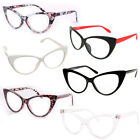 Cat Eye Retro Vintage Mod 50s Fashion Clear Lens Glasses Eyewear ~ Black, White