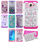 For Samsung Galaxy On5 HYBRID IMPACT Dazzling Diamond Case Cover + Screen Guard