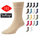 1 Pair Pack HJ91 Hall MENS SOFTOP Loose Wide Top Non Elastic Cotton Rich Socks