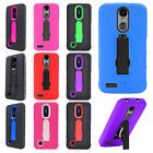 For Alcatel Dawn Turbo Layer HYBRID KICKSTAND Rubber Case Cover + Screen Guard